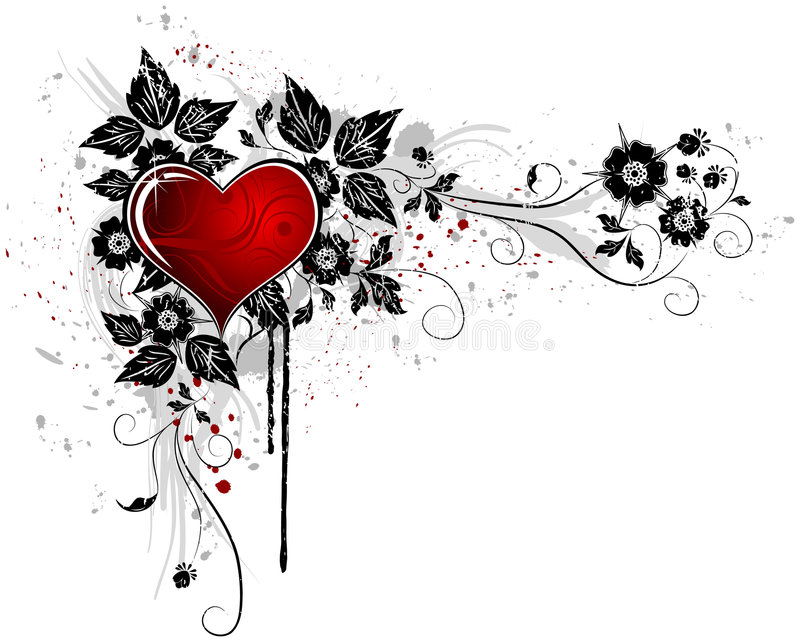 Sumário do Valentim ilustração do vetor