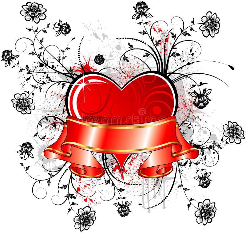 Sumário do Valentim ilustração stock