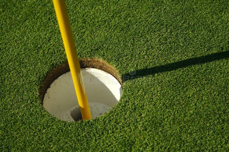 Sumário do verde do golfe & do Pin imagens de stock
