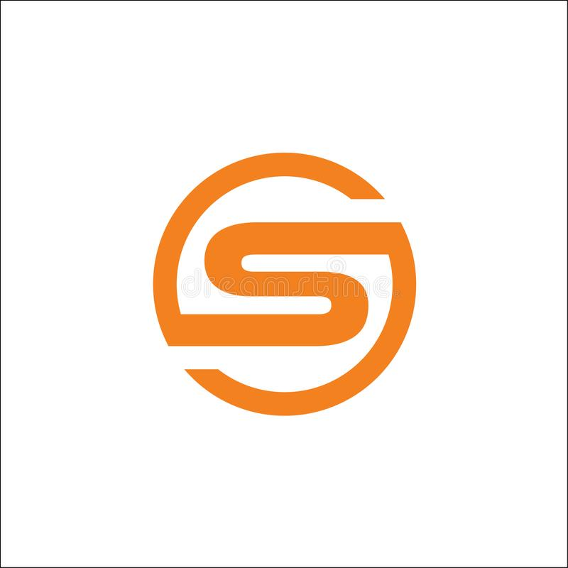 Sumário do vetor do logotipo do círculo das iniciais S ilustração royalty free