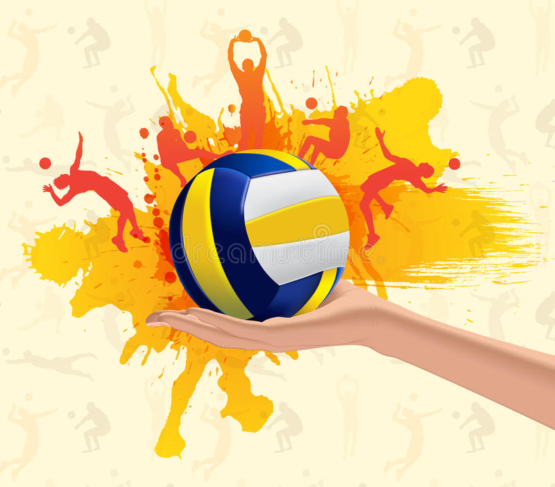 Sumário do voleibol ilustração royalty free