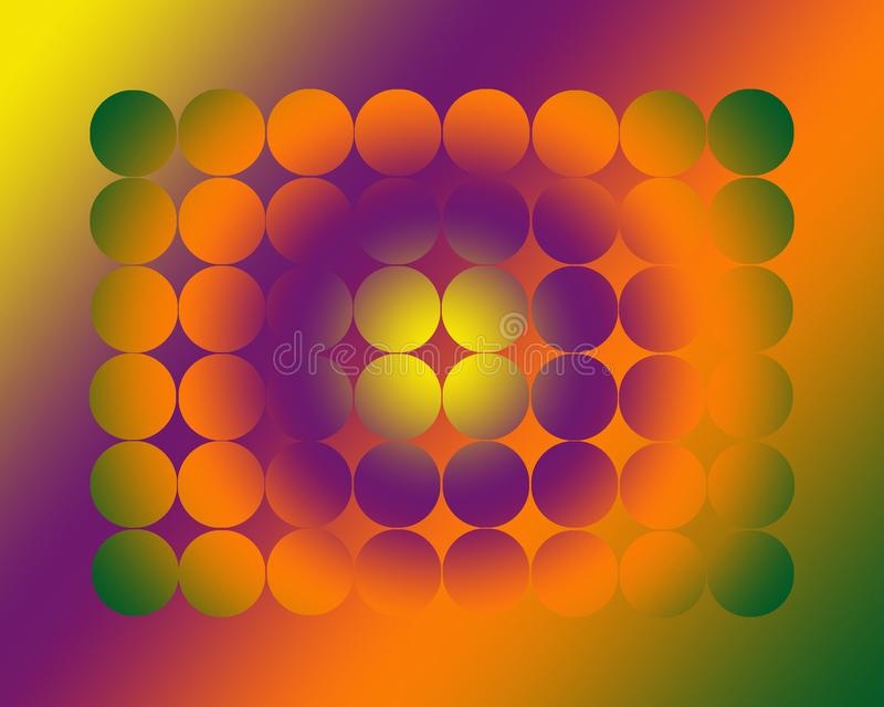 Sumário dos círculos enchidos com os inclinações Multi-coloridos ilustração stock