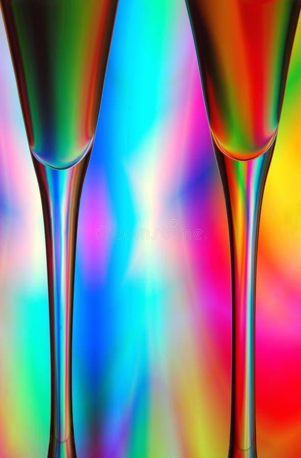Sumário dos vidros de Champagne fotos de stock