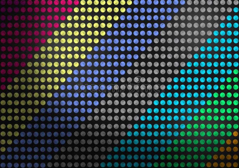 Sumário Dots Pattern colorido sem emenda no fundo escuro ilustração royalty free