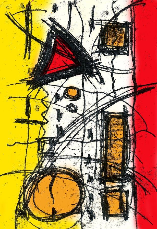 Sumário e arte e pintura e cor ilustração do vetor