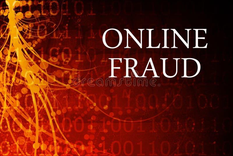 Sumário em linha da fraude ilustração royalty free