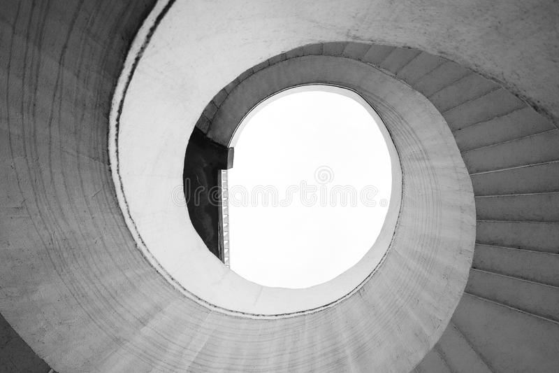 Sumário espiral da escada fotografia de stock