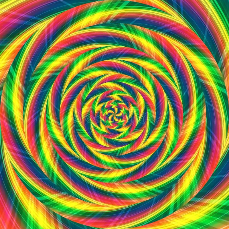 Sumário espiral do fundo do teste padrão do redemoinho, textura surreal ilustração royalty free