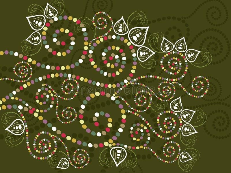 Sumário floral étnico boémio das curvas ilustração stock