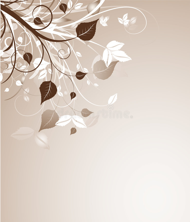Sumário floral ilustração royalty free