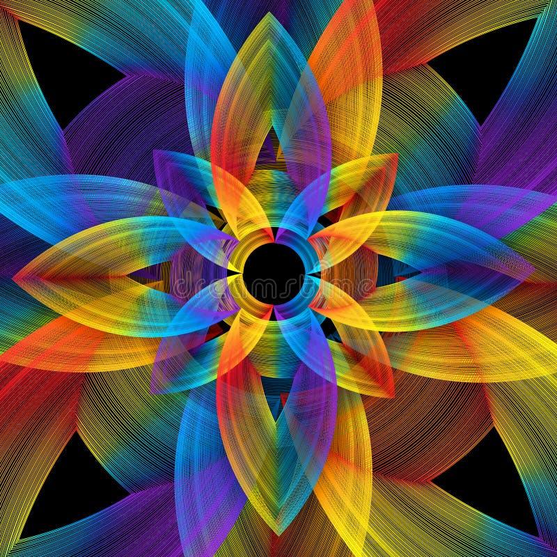 Sumário floral do espectro ilustração stock