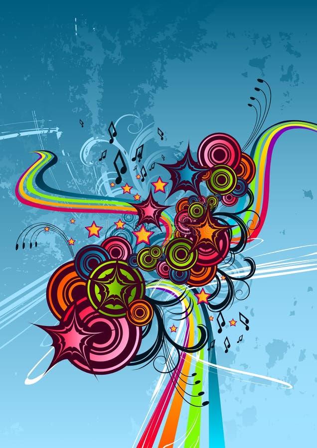 Sumário Funky da cor ilustração do vetor