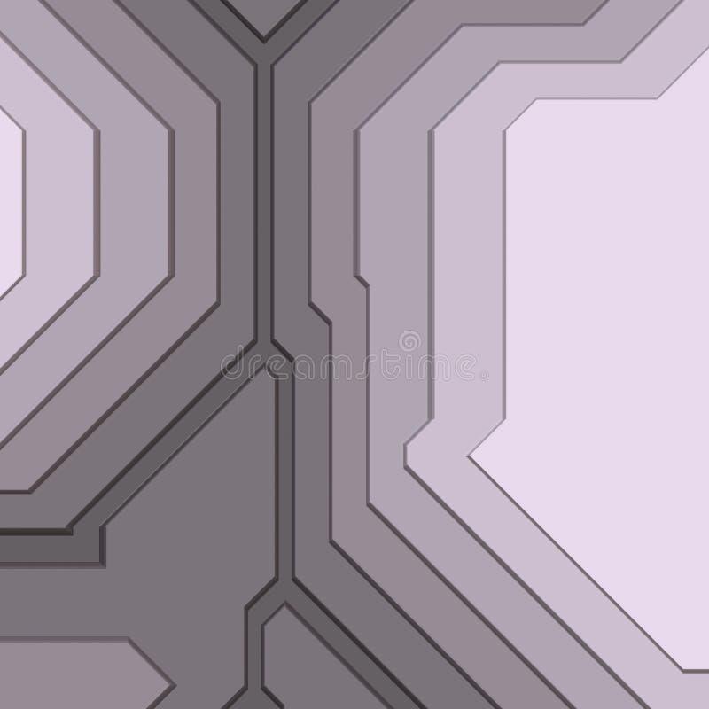 Sumário geométrico angular ilustração stock
