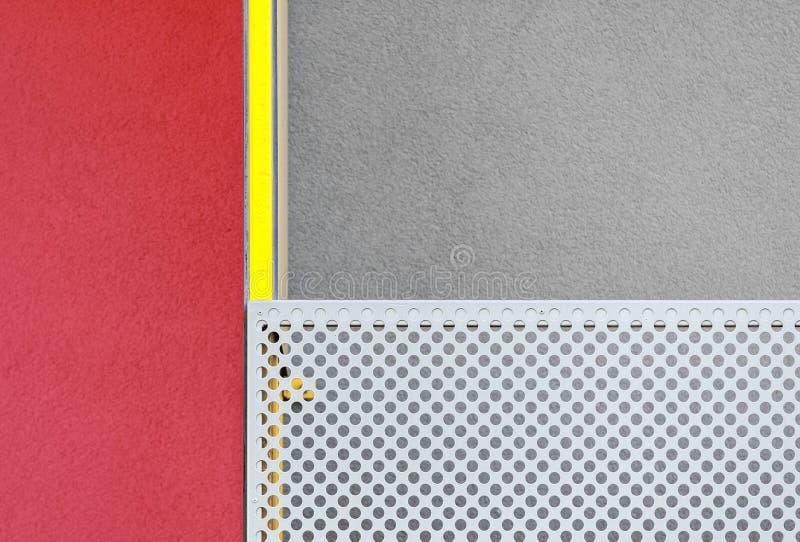 Sumário geométrico arquitetónico da construção moderna multicolorido imagem de stock