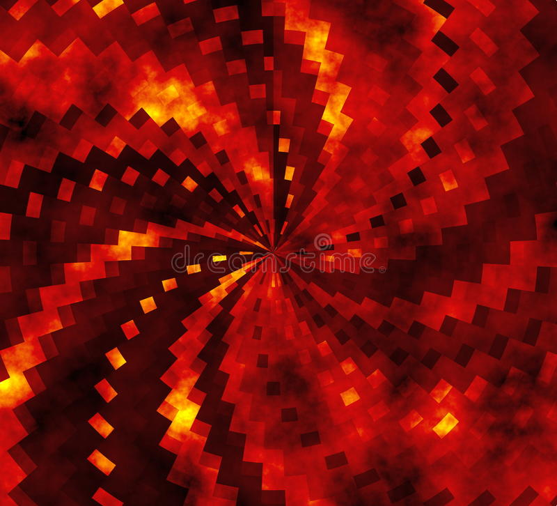 Sumário geométrico do fogo e do fumo ilustração royalty free