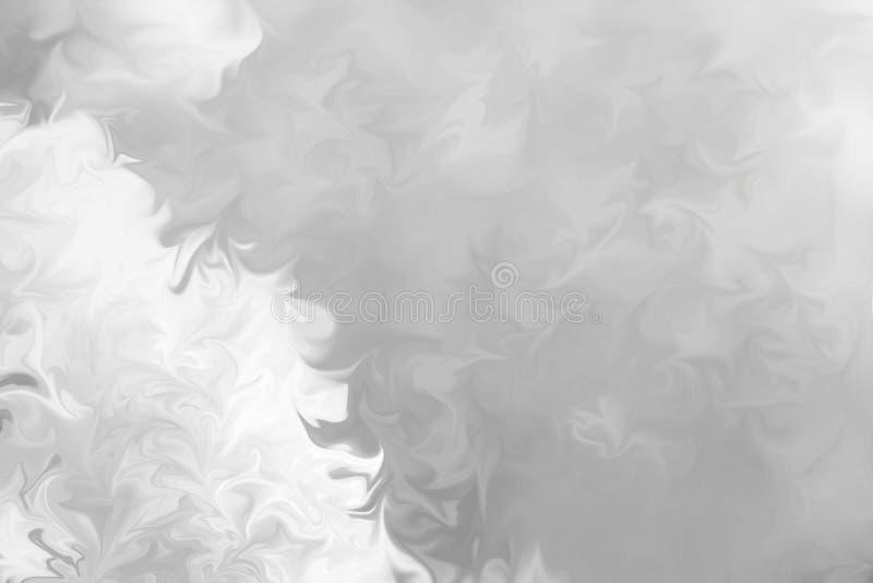 Sumário Gray Black e fundo de mármore branco do teste padrão da tinta Liquefaça o teste padrão abstrato com preto, branco, Grey G imagens de stock