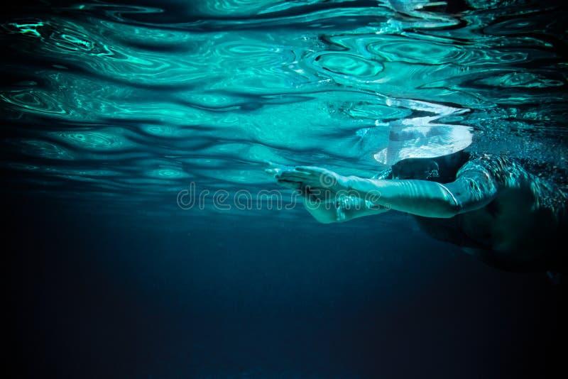 Sumário humano da água do mar fotografia de stock