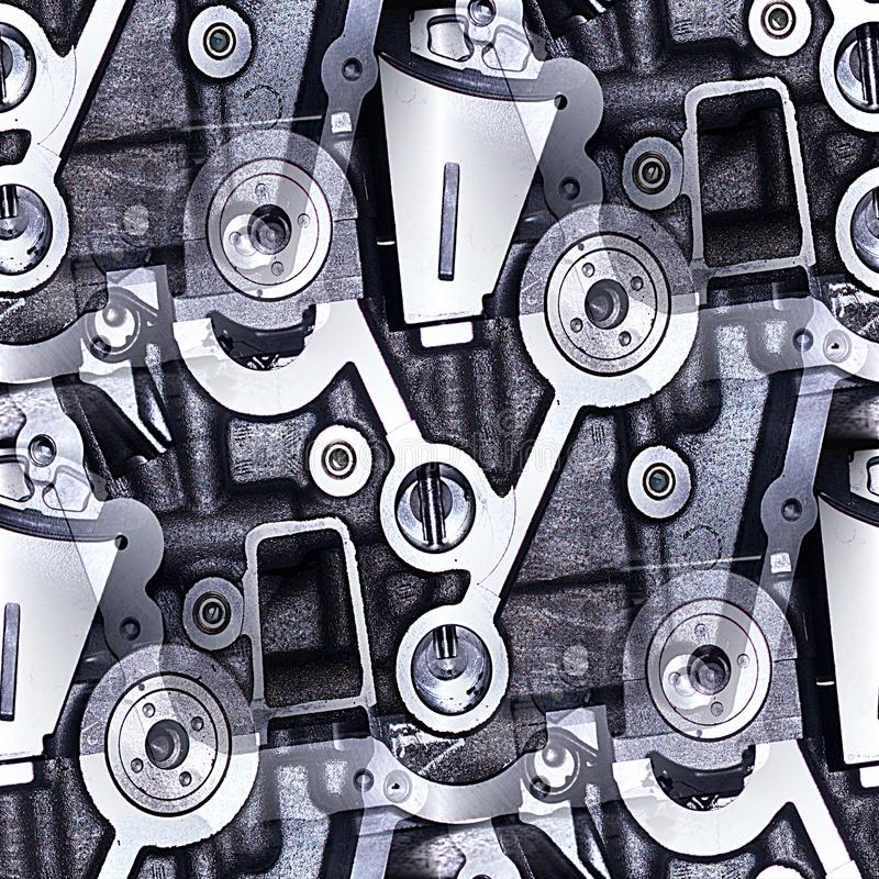Sumário industrial dos testes padrões fotos de stock