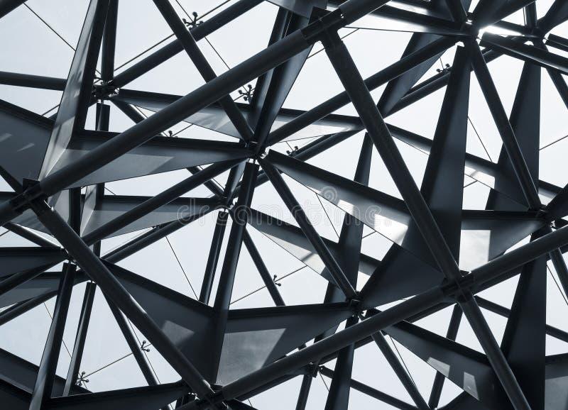 Sumário moderno da arquitetura da construção da construção de aço imagens de stock royalty free