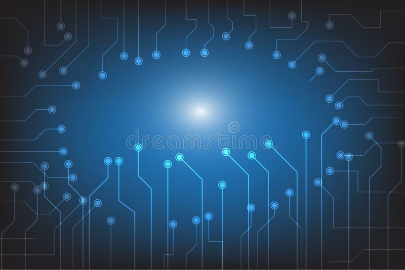 Sumário moderno da tecnologia que ilumina o fundo com ponto e linha conexão foto de stock royalty free