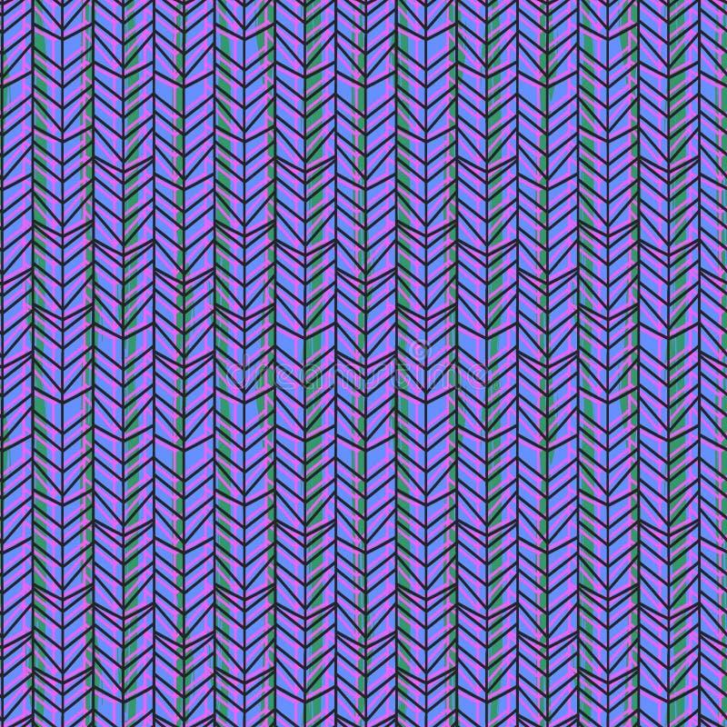 Sumário multicolorido do teste padrão sem emenda de desenhos em espinha da viga com cor dos azuis marinhos ilustração royalty free