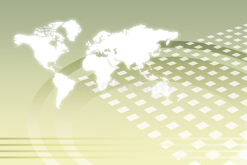 Sumário mundial corporativo do crescimento ilustração do vetor
