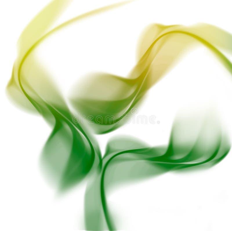 Sumário ondulado claro com cores verdes fotografia de stock royalty free
