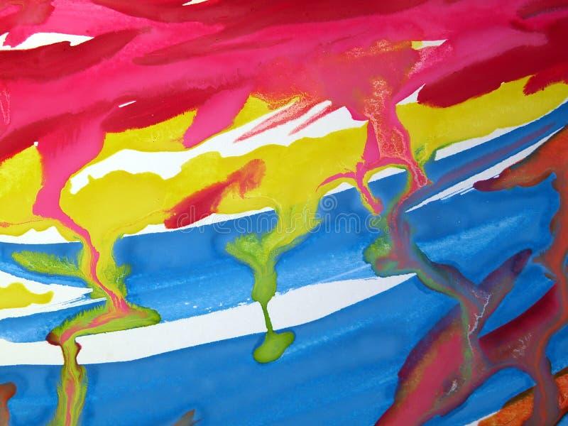 Sumário pintado imagens de stock royalty free
