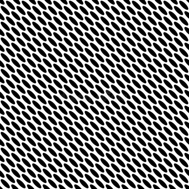 Sumário preto e branco do vetor e do teste padrão da repetição e projeto sem emenda ilustração royalty free