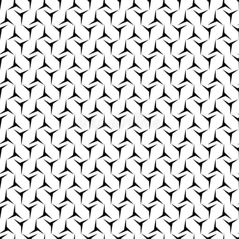 Sumário preto e branco do vetor e do teste padrão da repetição e projeto sem emenda ilustração stock