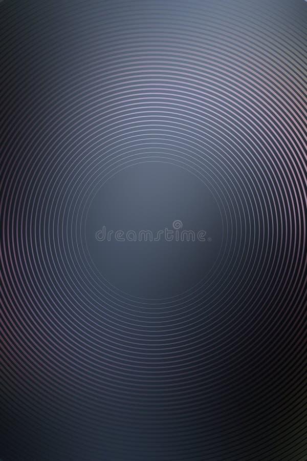 Sumário radial do inclinação do metal do fundo Textura ilustração stock