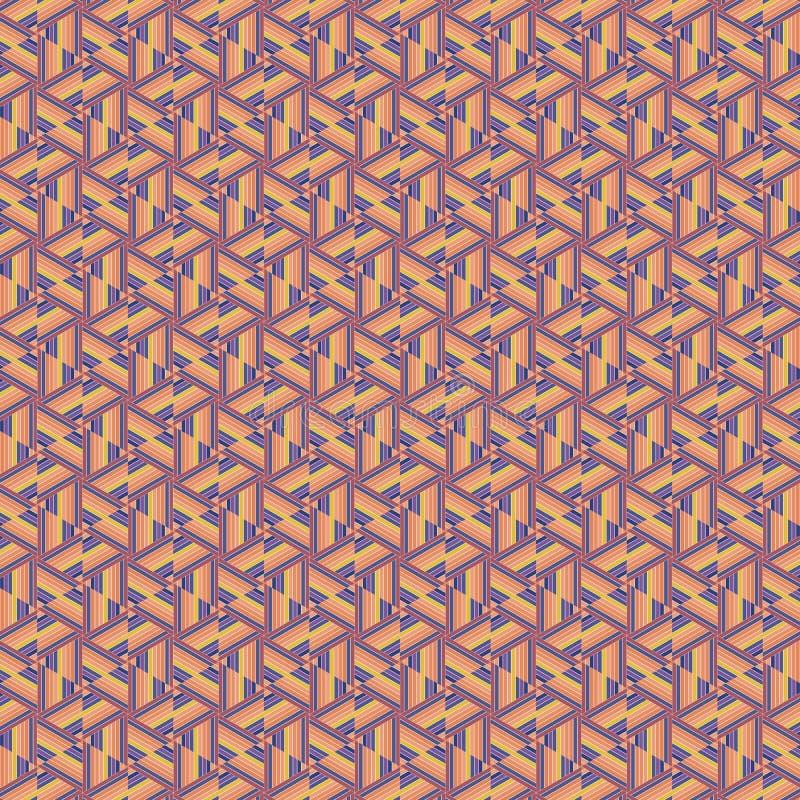 Sumário retro original teste padrão repetido do fundo da textura da tela de Brown ilustração royalty free