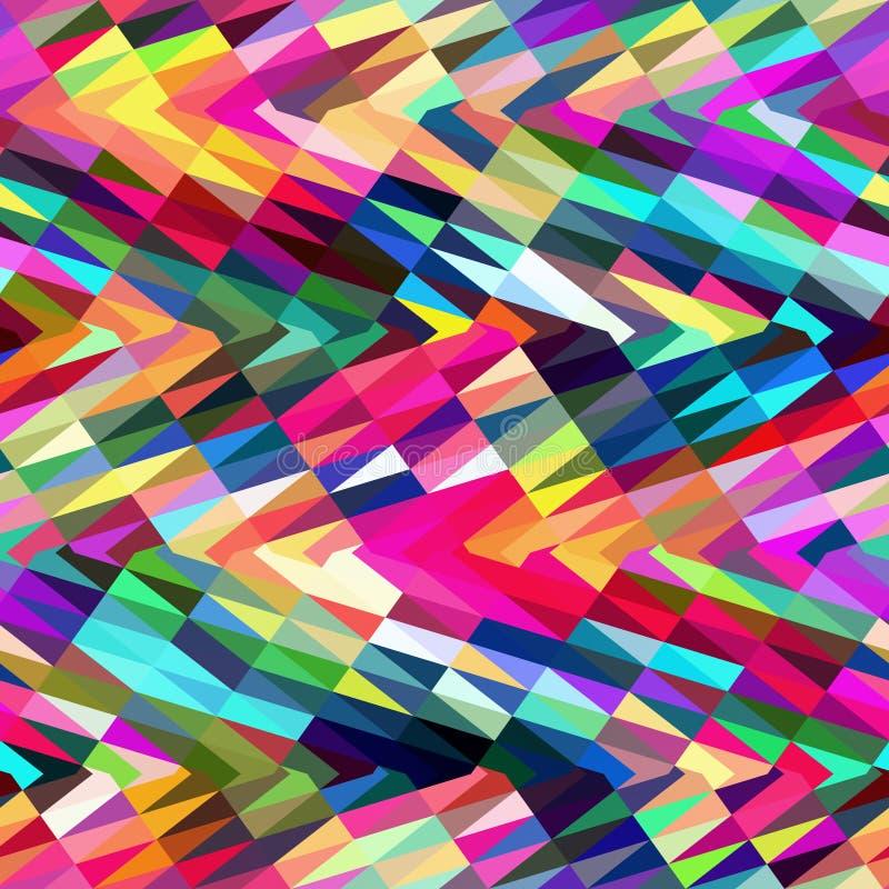 Sumário triangular colorido ilustração stock