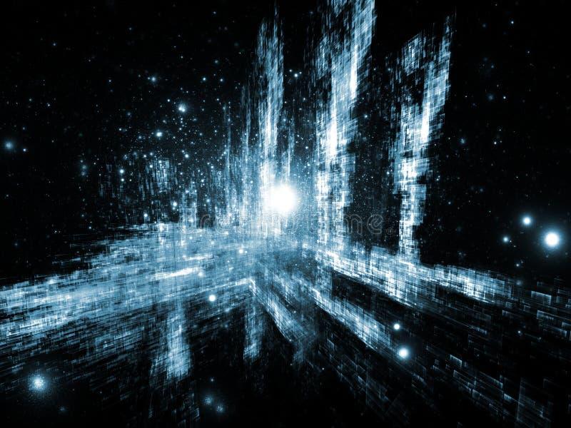 Sumário tridimensional dinâmico foto de stock