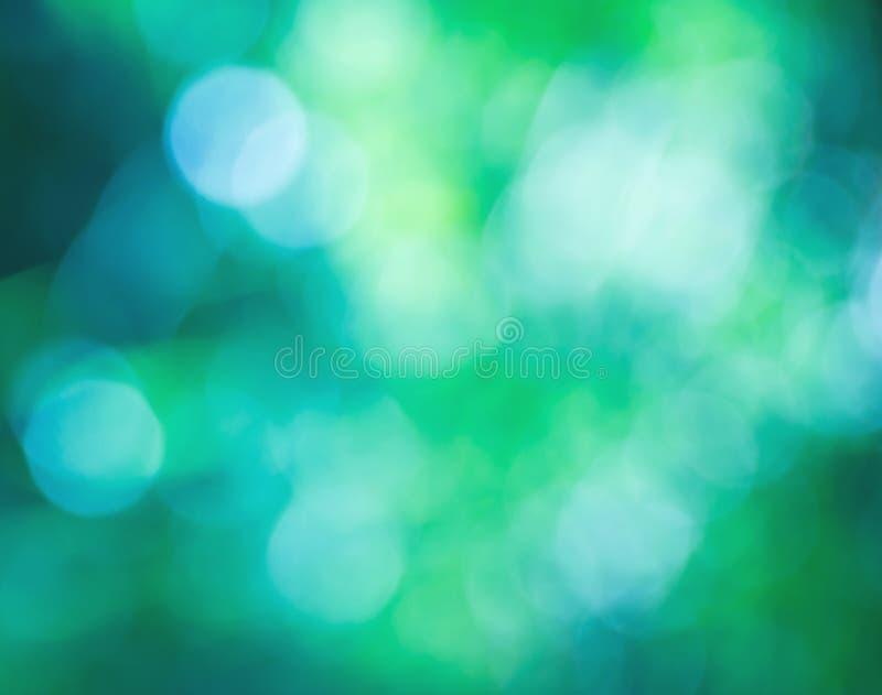 Sumário verde do bokeh imagens de stock