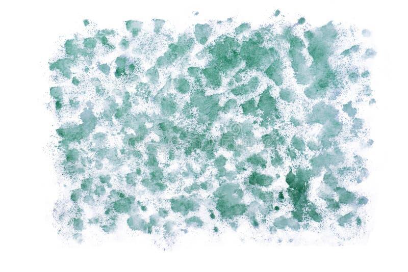 Sumário verde feito a mão da aquarela imagens de stock royalty free