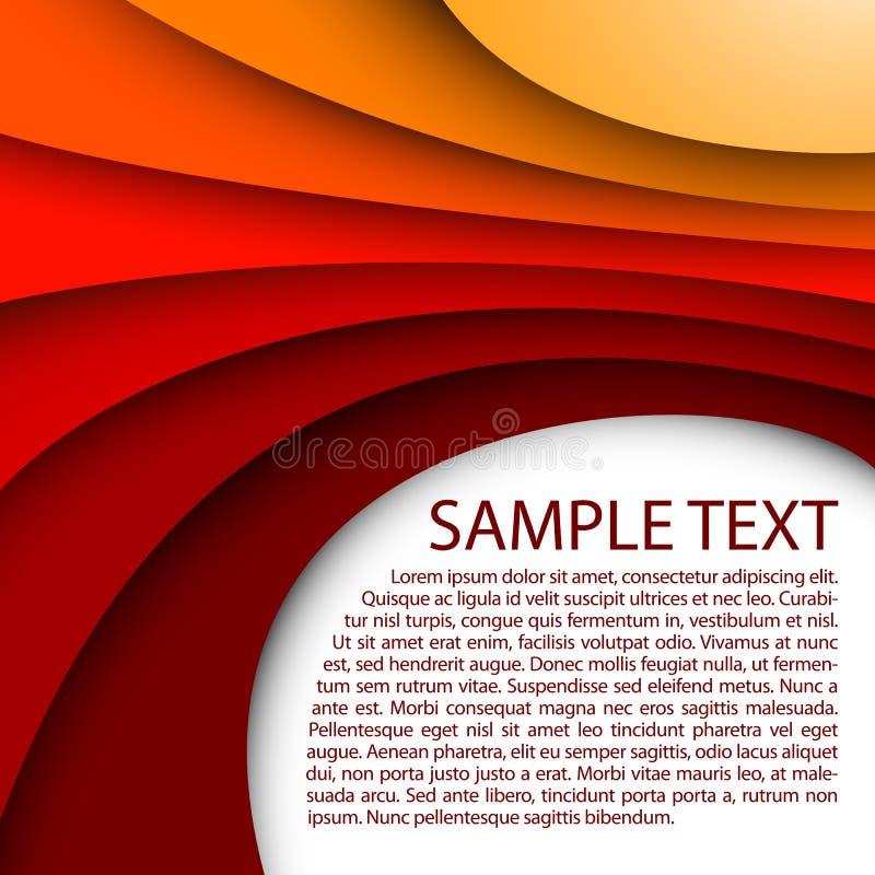 Sumário vermelho abstrato do fundo, arte, artística, b ilustração royalty free