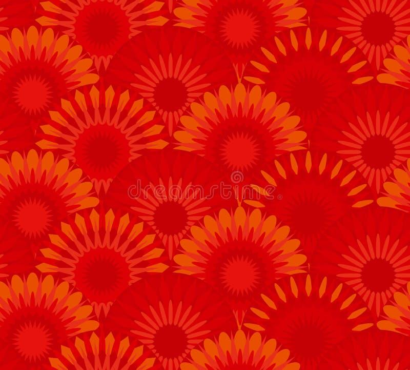 Sumário vermelho da flor da porcelana ilustração do vetor