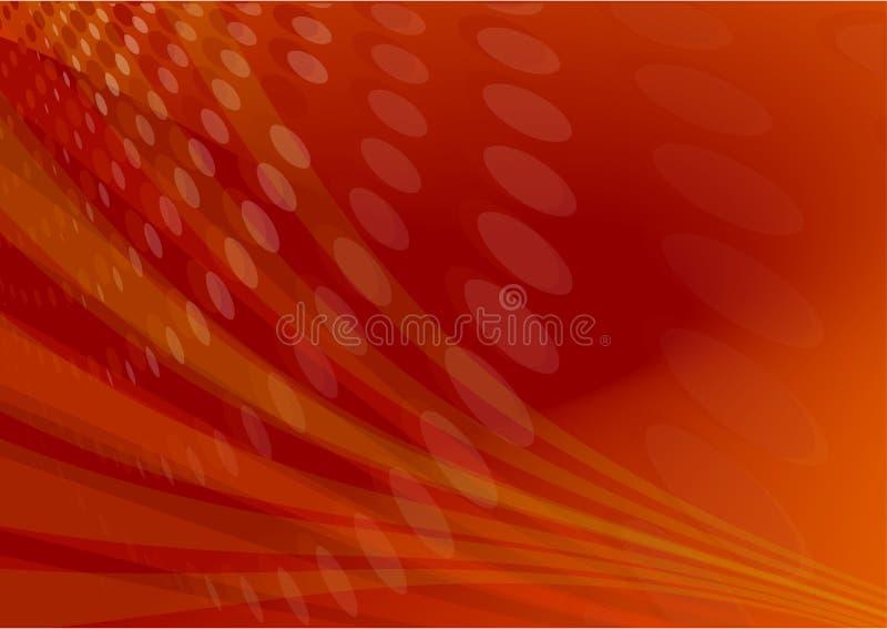 Sumário vermelho da luz do alargamento ilustração stock