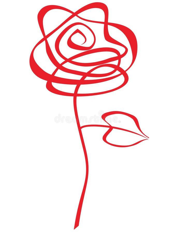 Sumário vermelho de Rosa ilustração royalty free
