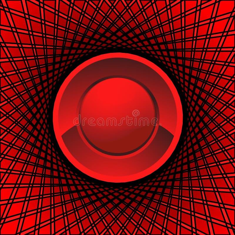 Sumário vermelho do olho ilustração do vetor