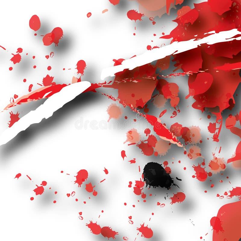 Sumário vermelho do respingo ilustração royalty free