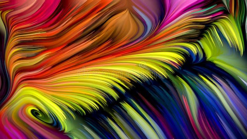 Sum?rio colorido da pintura ilustração do vetor