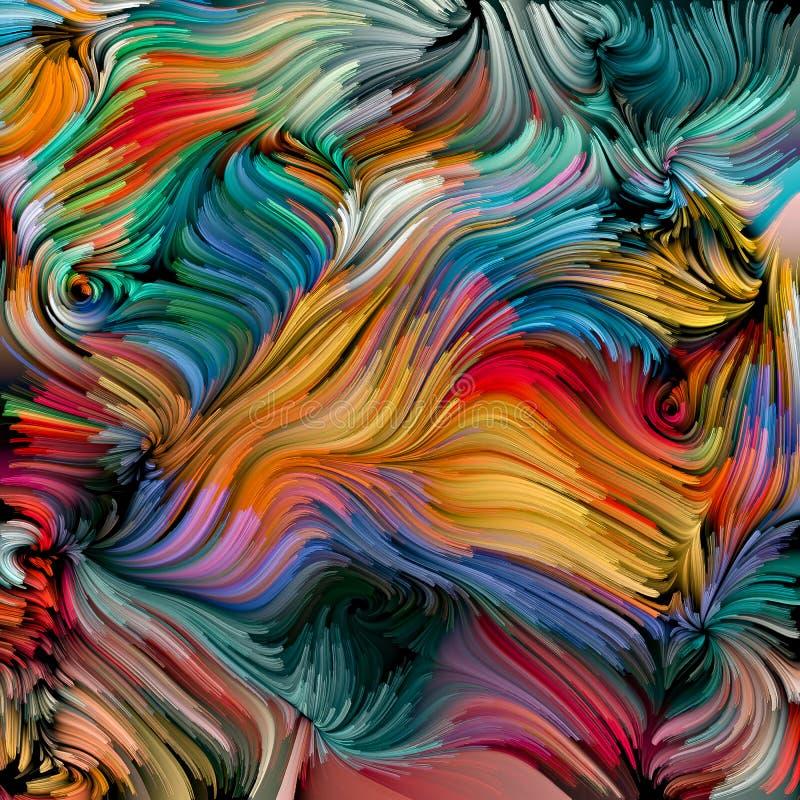 Sum?rio colorido da pintura ilustração stock