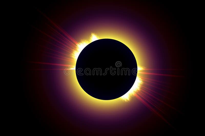 Download Suma zaćmienia ii ilustracji. Obraz złożonej z tła, astronomia - 26229