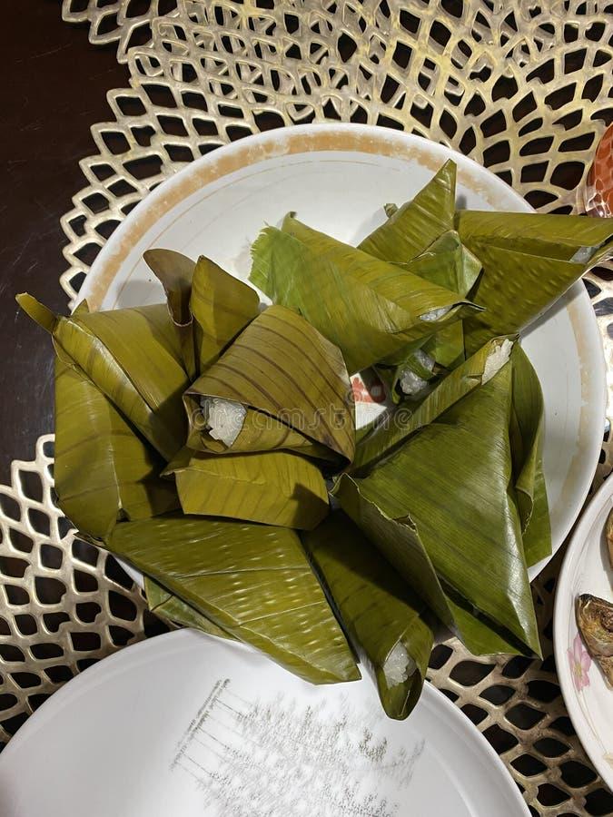 Suman or Filipino Rice Cake royalty free stock photo