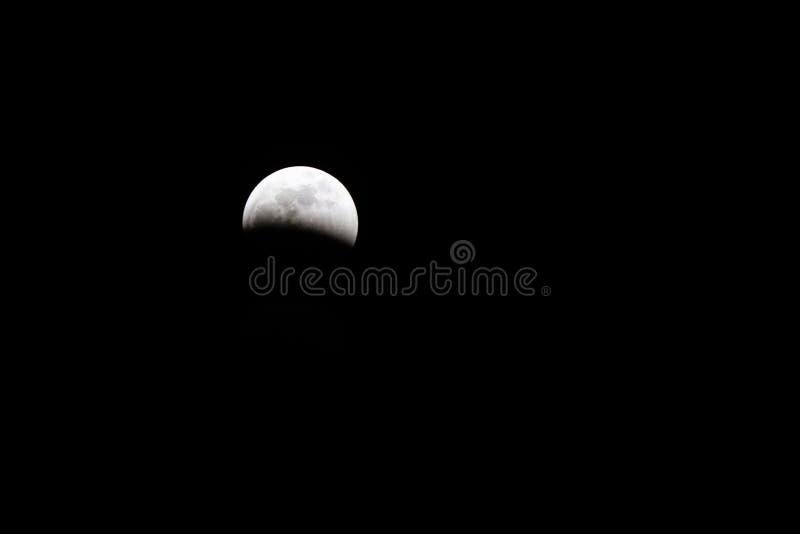 Sumaryczna zaćmienie księżyca krwi księżyc zdjęcie royalty free