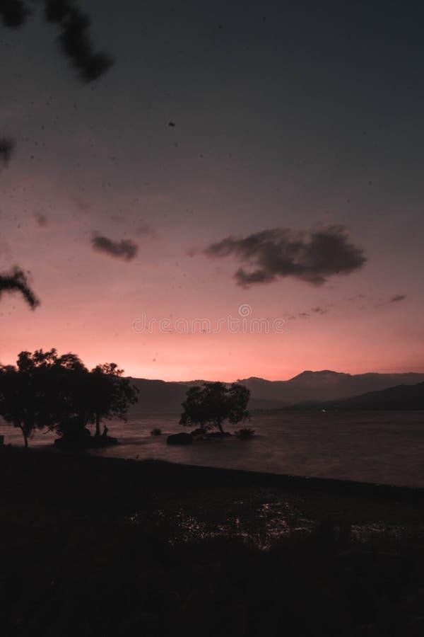 Sumatera del oeste de Singkarak del lago imagen de archivo