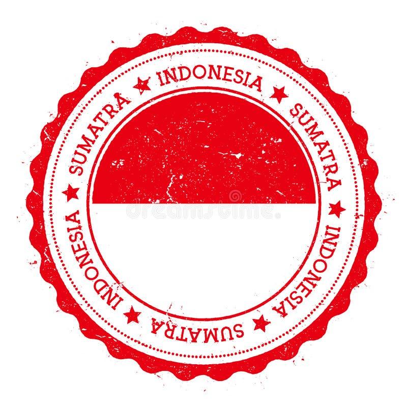 Sumatra flaga odznaka ilustracji