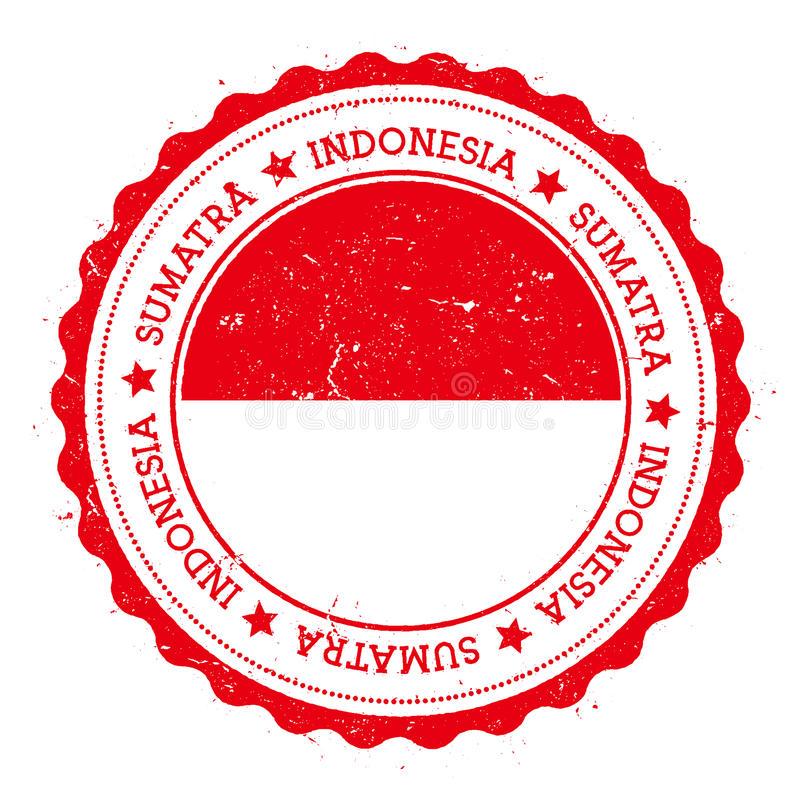Sumatra flaga odznaka royalty ilustracja